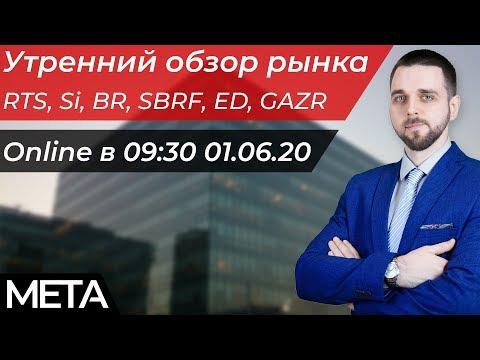 Обзор рынка. Нефть, Ртс, Валюта, Сбербанк, Газпром 01.06.2020