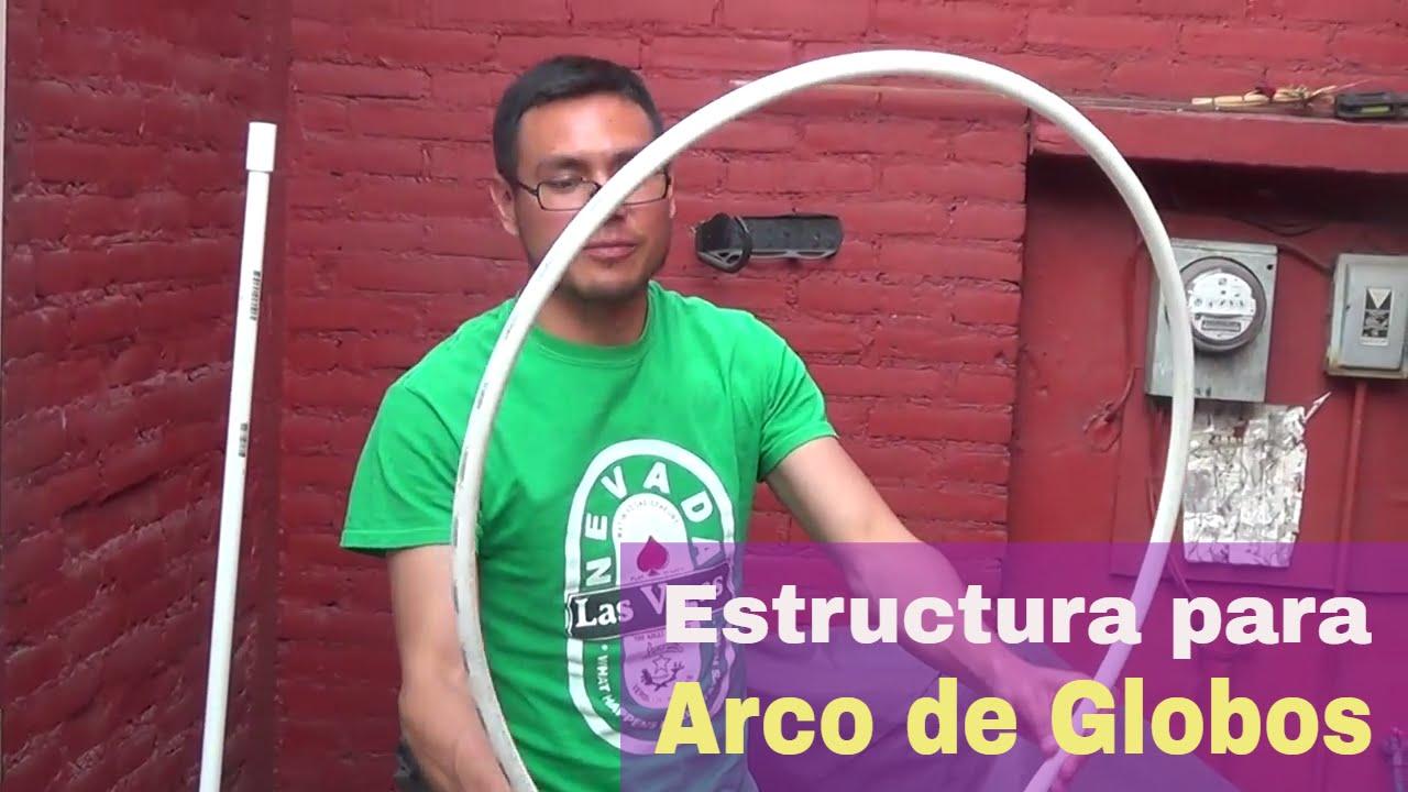 Estructura para arco de globos desmontable - YouTube