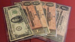 confederate currency and 500 banknote collection