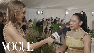 Sunisa Lee on Her Olympic Gold Met Gala Look | Met Gala 2021 With Emma Chamberlain | Vogue