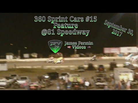 360 Sprint Cars #15, Feature, 81 Speedway, 2017