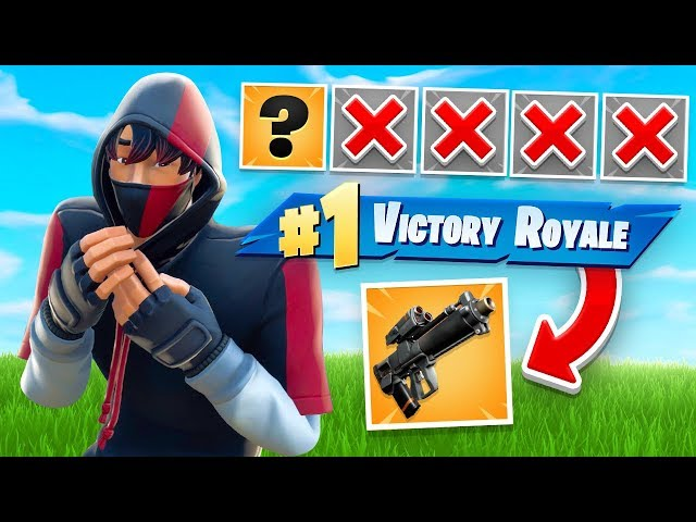 WINNING With FIRST GUN ONLY Challenge In Fortnite!