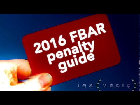 2016 FBAR Penalty Guide