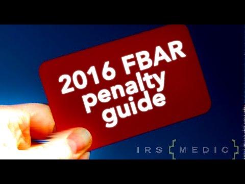 2016 FBAR Penalty Guide