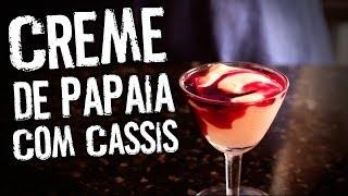 Creme de Papaia com Cassis | A Maravilhosa Cozinha de Jack