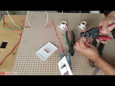 PRACTICA 2 Cómo Conectar Dos Lamparas En Paralelo Con Un Interruptor Sencillo SOLO PARA PRINCIPIANTE