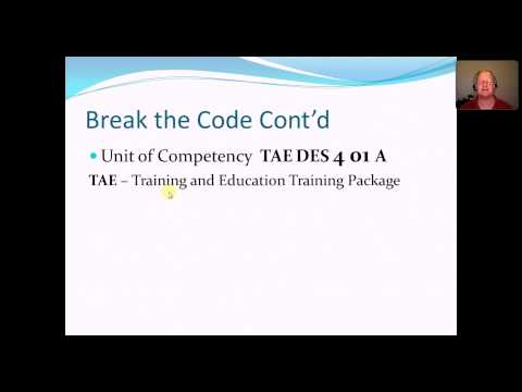 Certificate IV In Training And Assessment Packages, Qualifications And Units Of Competency.mp4
