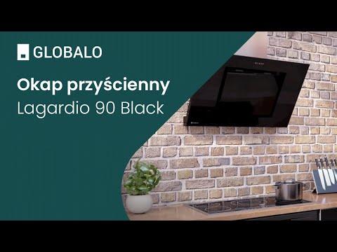 Okap przyścienny GLOBALO Lagardio 90.3 Black | Ciche i wydajne okapy GLOBALO