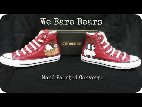 bf37ea91415c17 We Bare Bears - Painted Converse - Collab - YouTube