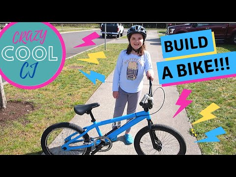 WE BUILD A BMX BIKE FOR $40! Crazy Cool CJ and her dad rebuild an old Mongoose into an awesome bike!