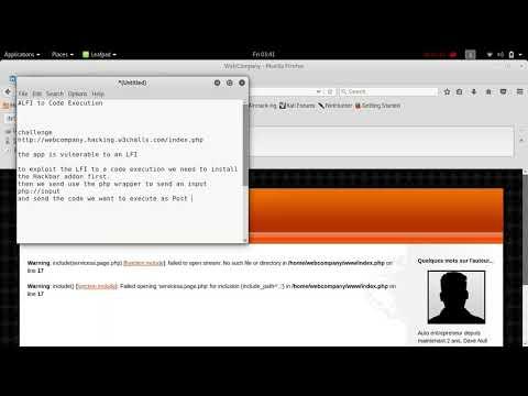 W3Challs com Webcompany (EASY)- LFI to Code Execution - YouTube