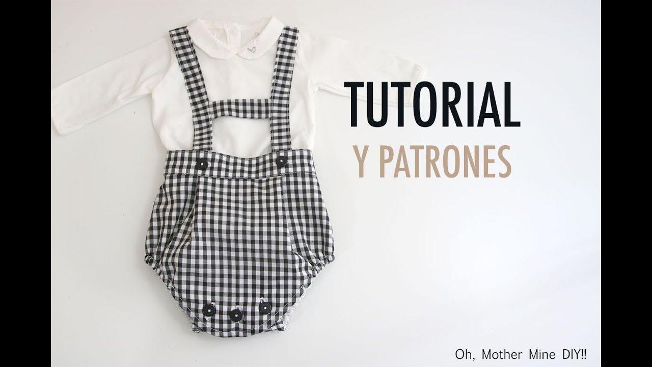 Costura: Peto ranita para bebés (patrones gratis) - YouTube
