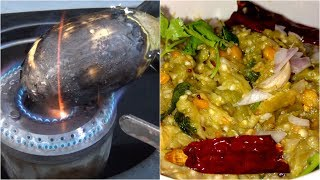 Brinjal Chutney Recipe Traditional Style