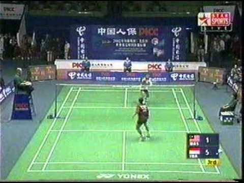 2002 Thomas Cup Final Malaysia vs Indonesia : 3rd Men's Singles 4/4