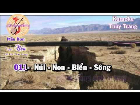 Karaoke - Mẫu Đơn - Tựa:  NẾU
