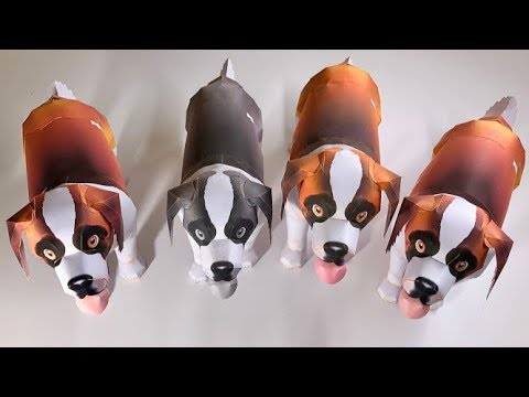 3D Puppy🐶🐶🐶. How To Make 3D Puppy Using A4 Size Papers.