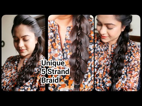 Unique 5 Strand Braid Hairstyle for long hair//indian hairstyles//Hairstyle Diaries