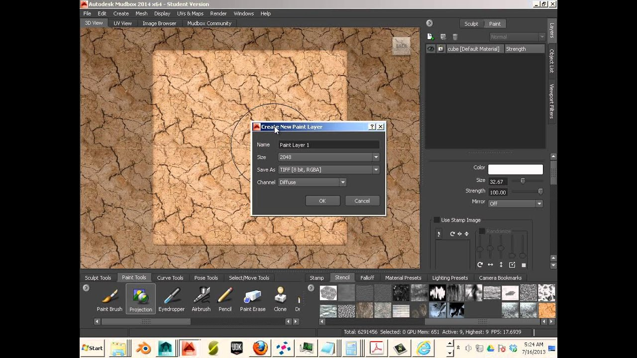 0114 Mudbox 2014 Tileable Texture for Stencil making Part 2 of 2