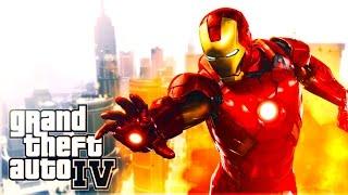 """IRON MAN MOD SHOWCASE"" GTA Mod Gameplay (GTA IV MOD)"