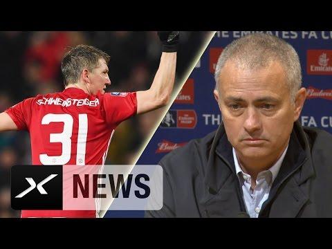 Jose Mourinho: Bastian Schweinsteiger wird bleiben! | Manchester United - Wigan Athletic 4:0