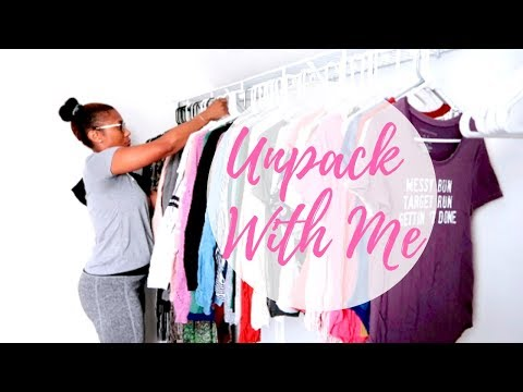 UNPACK WITH ME| UNPACKING AND ORGANIZING MASTER CLOSET + CHIT CHAT
