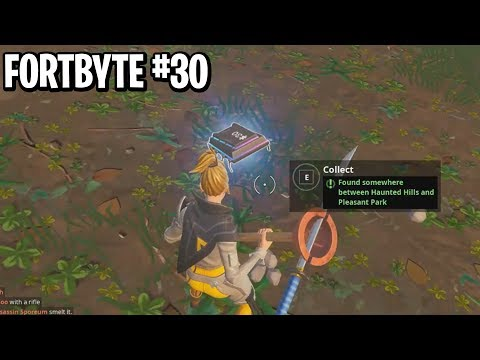 New Fortbyte #30 Location! Found Between Haunted Hills and Pleasant Park Location! (Fortbyte #30)