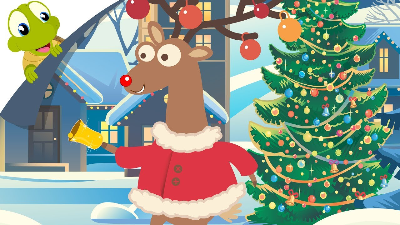 Rudolph the Red Nosed Reindeer with lyrics   Christmas Song - YouTube