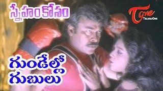 Sneham Kosam - Chiranjeevi - Meena - Gundello Gubulu - Telugu Video song