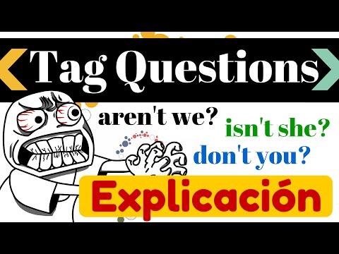 Tag Questions en inglés - Usos y 10 ejemplos en todos los tiempos [Preguntas del inglés 6]
