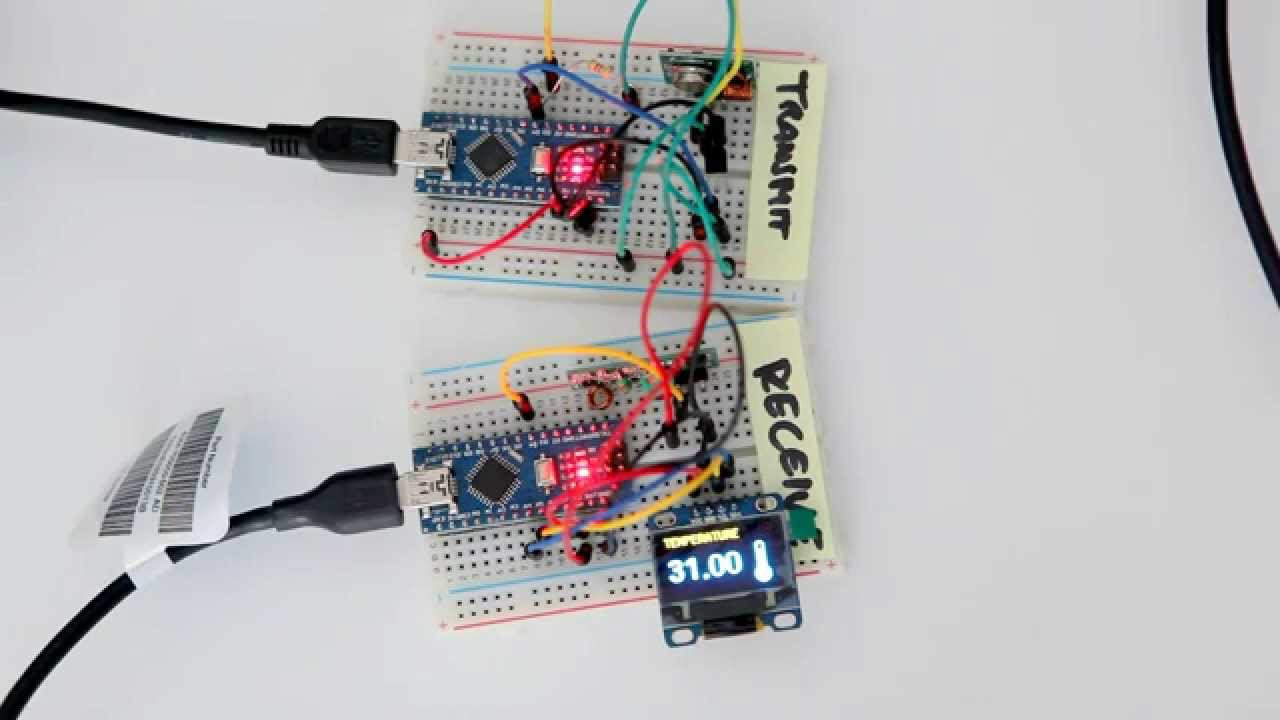 Wireless arduino weather station with oled display and