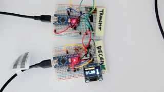 wireless arduino weather station with oled display and 433mhz communication