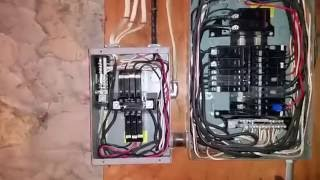 Electrical Sub Panel - Improper Installation