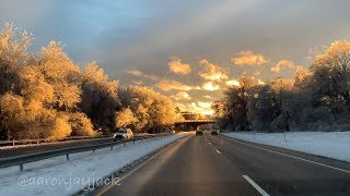 Incredible FREEZING RAIN Sunset from Winter Storm in Connecticut