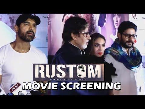 Akshay Kumar's RUSTOM Movie Screening | John Abraham | Amitabh Bachchan