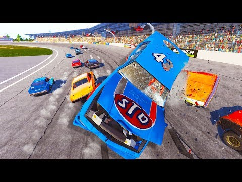 HIGH SPEED NASCAR LEGEND CRASHES AT TALLADEGA! - Next Car Game Wreckfest Nascar Crashes