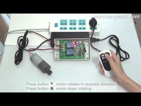 30a dc motor remote controller with manual button and for Motor forward and reverse direction control using plc