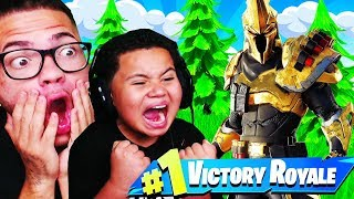 LA PEAU DE RANG 100 EST SURPUISSANTE !! GRATUIT VBUCKS GIVEAWAY! FORTNITE SEASON 10 LITTLE KID SQUEAKER!