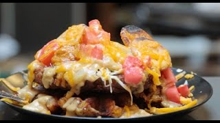Fried Steak Waffle Fry Crack Gravy Eruption - Hungry Superman Masterpiece