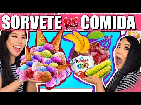 SORVETE VS COMIDA | Blog das irmãs