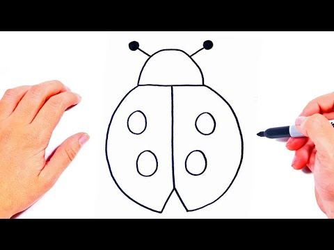 Easy Drawings For Kids How To Draw A Cute Ladybud Youtube