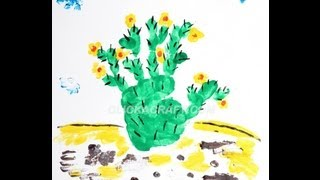 Finger Painting Cacti Art Cullen S Abc S By Cullensabcs