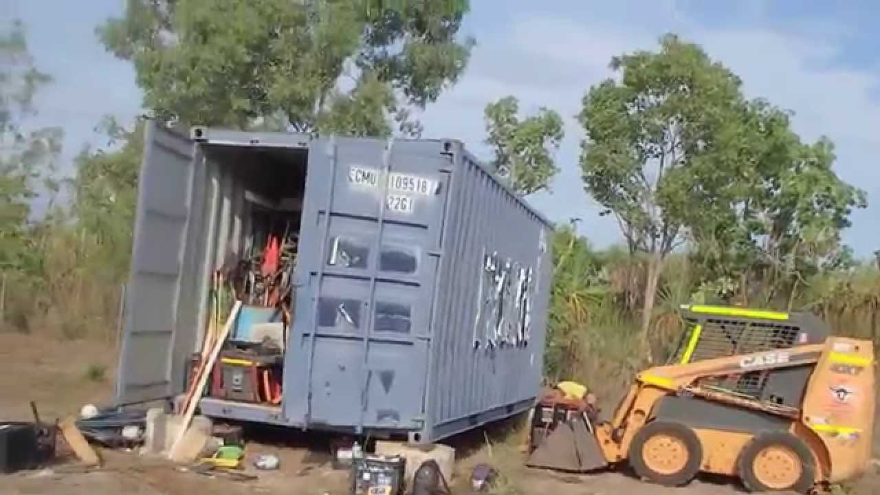 Best Kitchen Gallery: Shipping Container Shed Youtube of Shipping Container Shed on rachelxblog.com