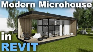 Modern Micro house in Revit Complete Tutorial part 1