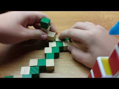 Фигуры из змейки Рубика. Урок #46. Алмаз