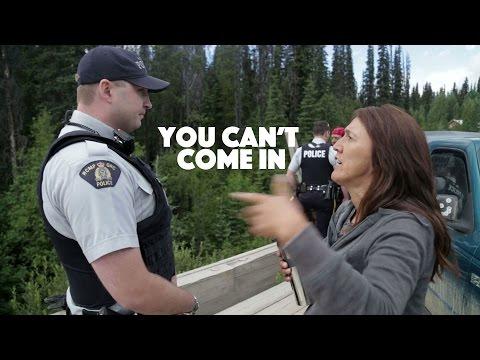 RCMP Blocked from entering Unist'ot'en Camp