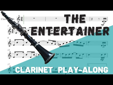 The Entertainer Clarinet Solo. Play-Along/Backing Track. Free Music!