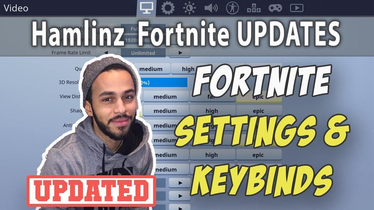 Hamlinz Fortnite Settings and Keybinds (Updated September 2019)