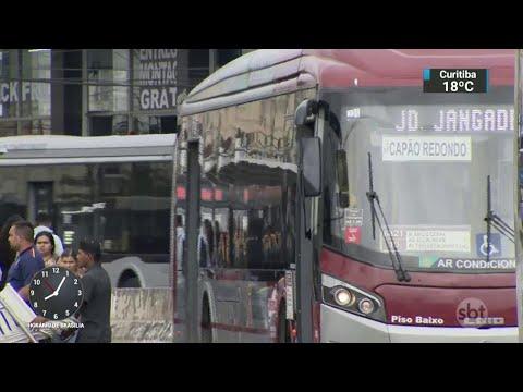 Assaltante é baleado ao tentar roubar ônibus na zona norte de SP | Primeiro Impacto (16/03/18)