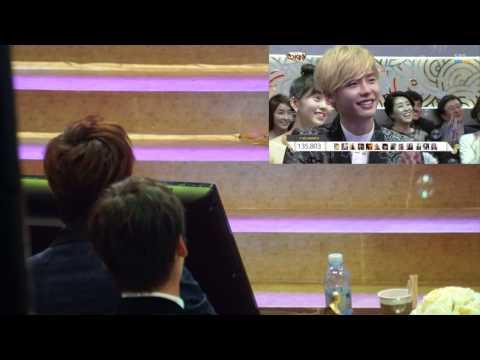 20131231 Lee Min Ho watching kids dancing in SBS Drama
