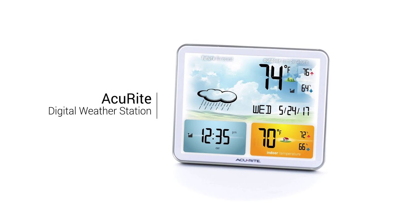 AcuRite Color Weather Station 02081 YouTube